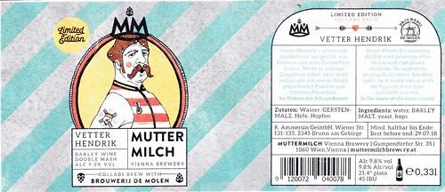Austria - Muttermilch Vienna Brewery in collaboration with Brouwerij De Molen (Vienna)