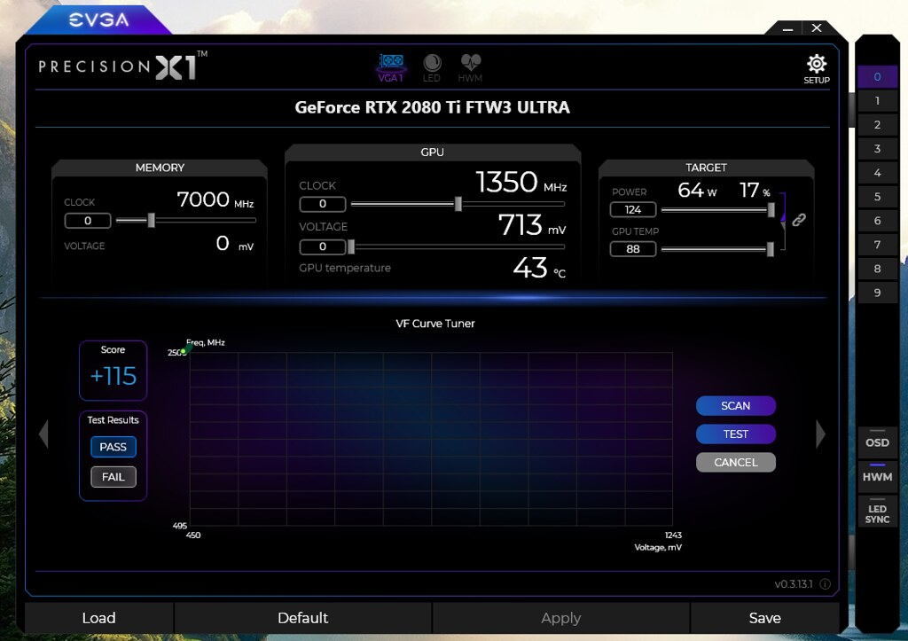 Madison : Msi afterburner can't change core clock