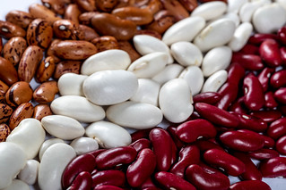 White, red and brown beans | by wuestenigel
