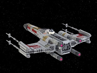 Red Five X-wing starfighter   by Swan Dutchman