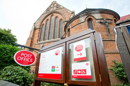 Post office in a church at St James ,West Hampstead, London (c) GraingePhotography (The Sherrif Centre at St James West Hampstead)   by The National Churches Trust