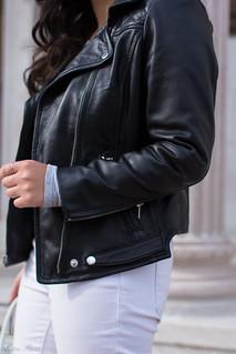 black leather jacket, white jeans, grey tee, suede slingback heels-13.jpg   by LyddieGal