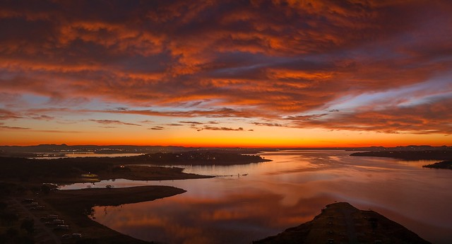 Red Dawn Over Canyon Lake