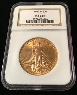 1923-D $20 NGC MS65 Star Slab Photo #1