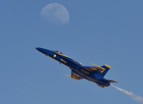 Blue Angel Shots the moon @ VRACIU Field (El Centro NAF Ca)