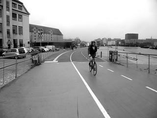 Cyclist in Copenhagen, Denmark