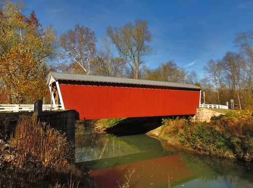 thomasford covered bridge indiana county pa pennsylvania scenic scenery landscapes transportation water creek stream outside