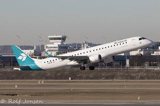 I-ADJW Embraer 195 Air Dolomiti Munich airport EDDM 18.02-19 | by rjonsen