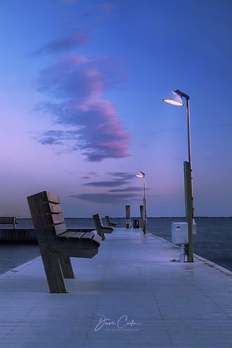 sayville newyork longisland water south shore bay ocean atlantic marina boat dusk hour evening night light blue