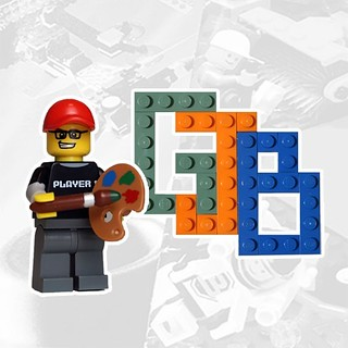 Been playing with an alternative logo using my sigfig. The LEGO minifigure posing like Bob Ross with the new brick built logo. Kind of love it (glad I went green!) #lego #minifigure #sigfig #legominifigure #legominifigures #logo #brand #legobuild #legofan | by GJBricks