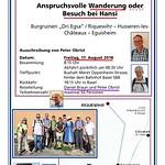 August 2018: Wanderung und Besuch bei Hansi