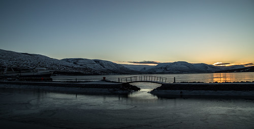 sky snow sun pollurinn akureyri iceland vaðlaheiði nature mountains mountain sea winter sunset ship little bridge littlebridge