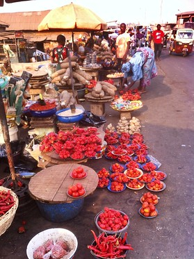 nigeria ibadan ojemarket tomatoes peppers