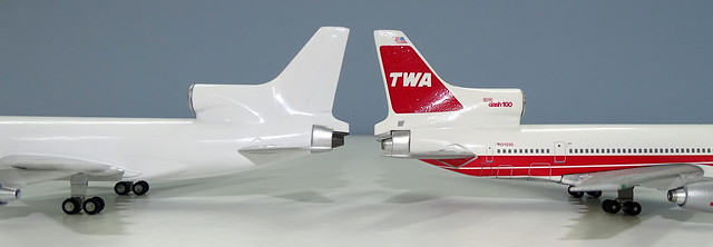 NG Models Lockheed L-1011 Tristar vs Blue Box Tristar
