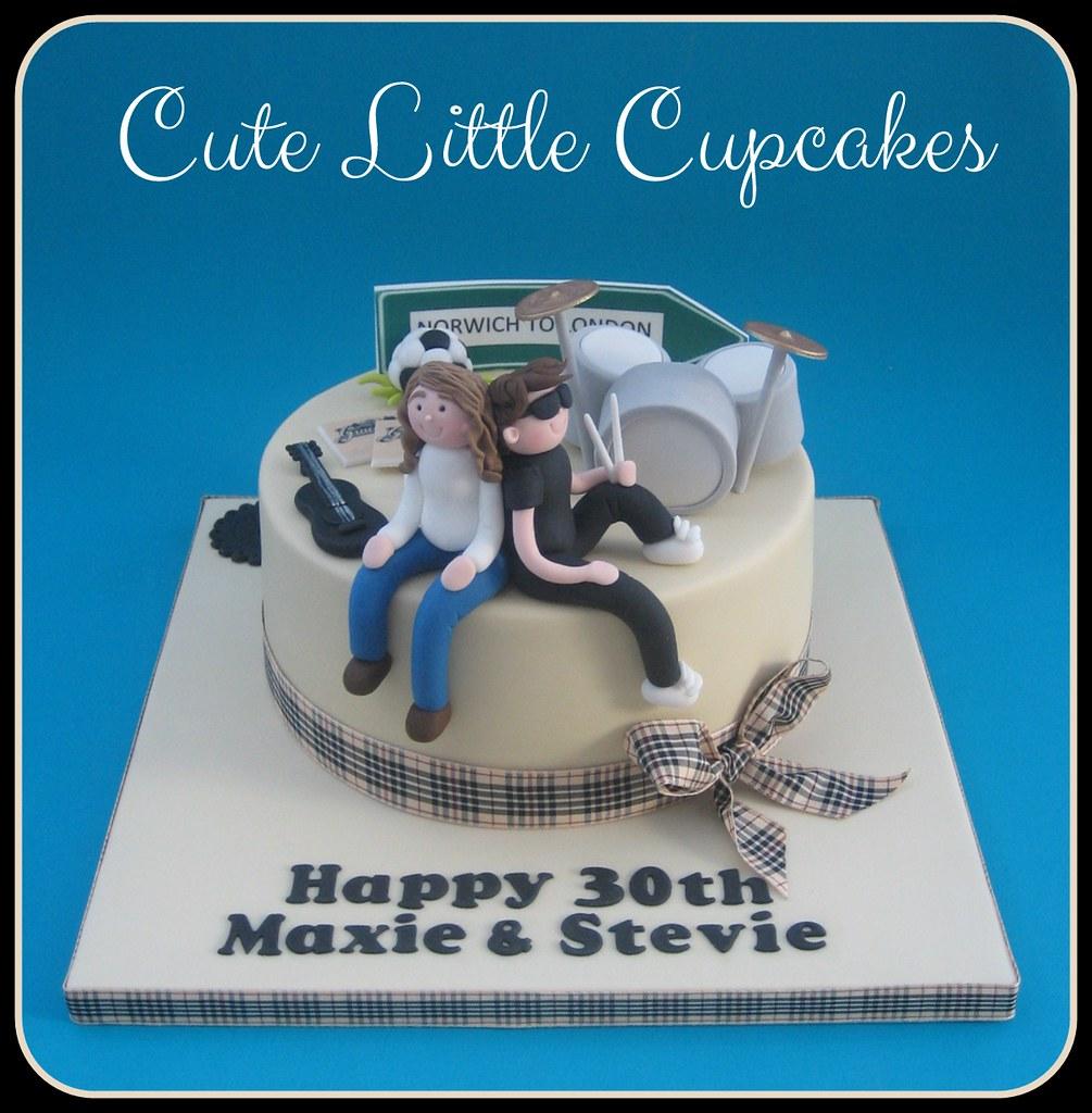 Awe Inspiring Music Themed 30Th Birthday Cake Heidi Stone Flickr Personalised Birthday Cards Akebfashionlily Jamesorg