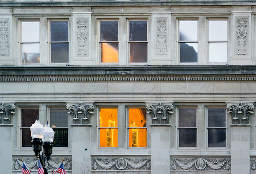 sunrise reflection lancaster pa greist building windows