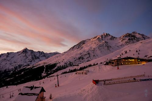 sölden tirol austria at 奥地利 瑟尔登 sunrise 日出 hochsölden