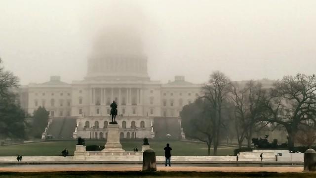 US Capital... in the fog