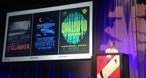 TypeCon 2017: James Walker on Type Hike: A Typographic Exploration of America's National Parks | by composerjk