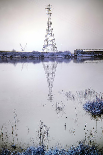 Still waters run deep, River Usk, Newport, Gwent