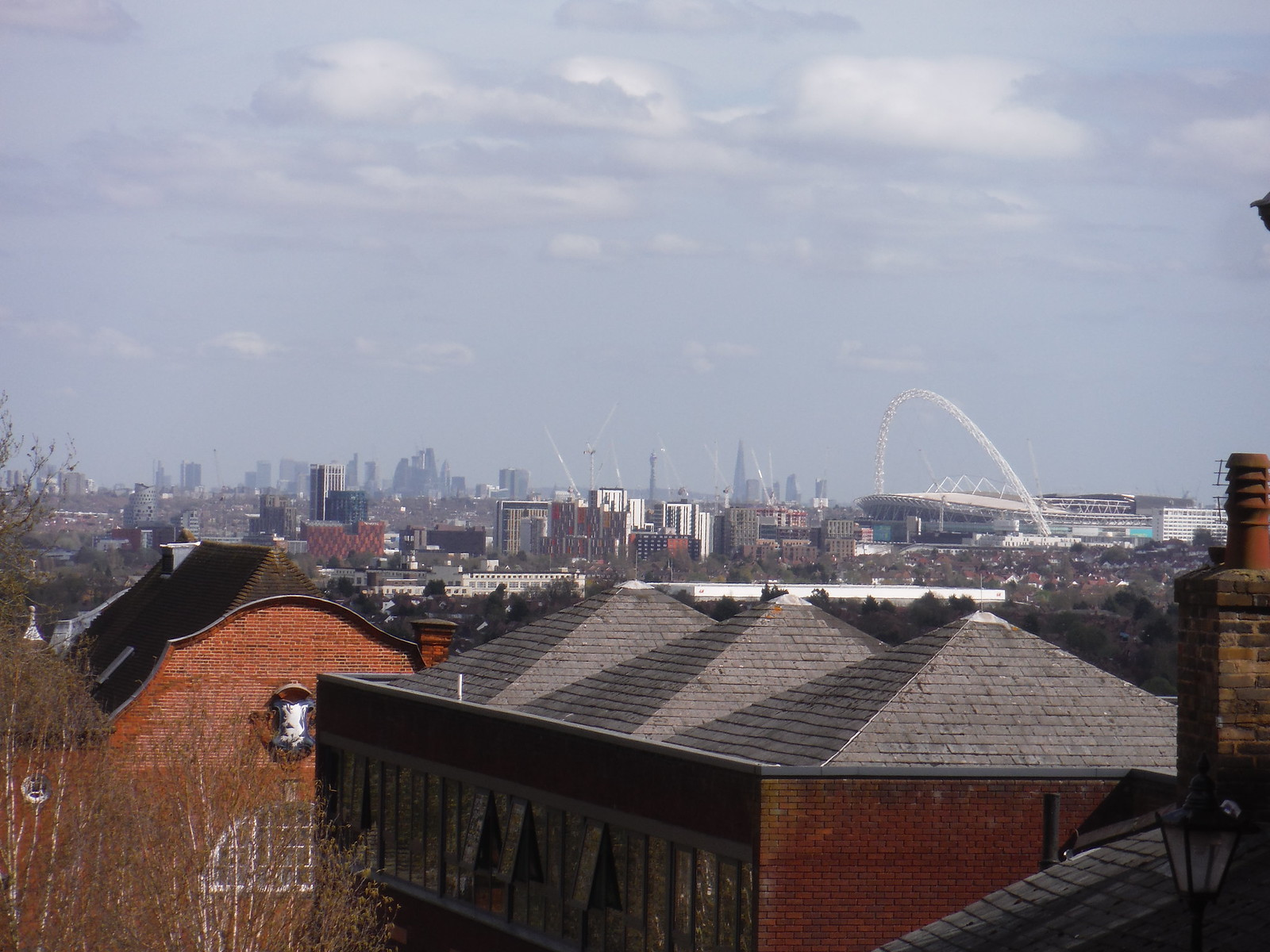 Central London and Wembley Stadium across Harrow's Roofs SWC Short Walk 40 - Harrow-on-the-Hill (South Kenton or Northwick Park to Harrow-on-the-Hill)