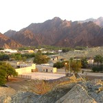 View from watchtower over the oasis of Hatta