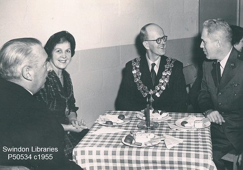 c1955: Swindon Mayor Cllr. Harold Thorpe at the USAF Base | by Local Studies, Swindon Central Library