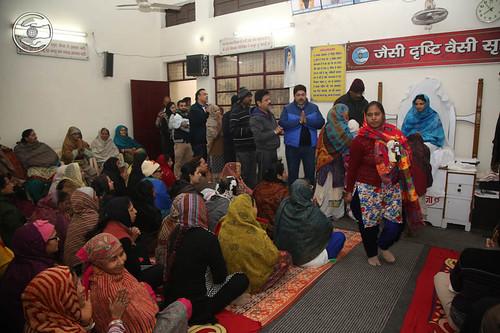 Devotees seeking blessing