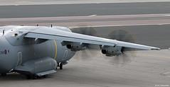 Royal Air Force Airbus Military A400M Atlas C1 ZM411 departing RAF Gibraltar/LXGB