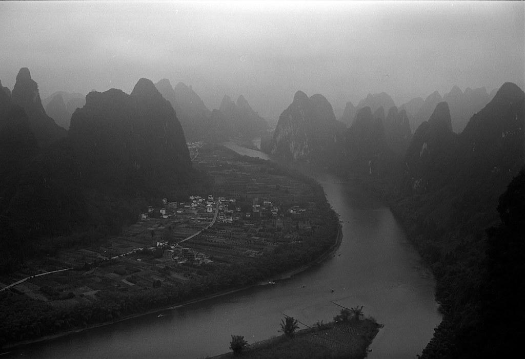 Village among mountains