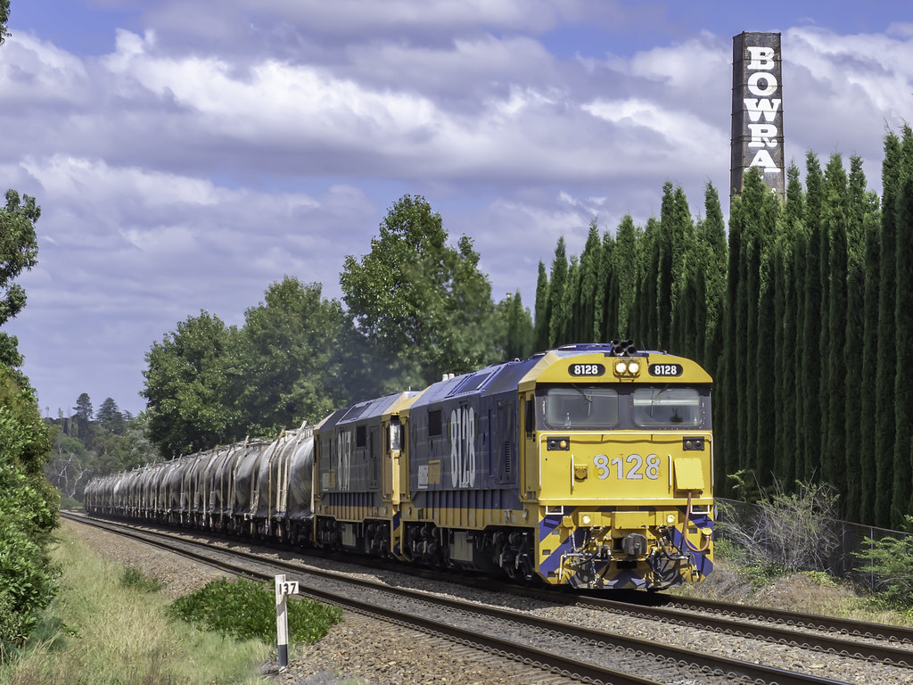 Locomotive 8128, with 8167, as PN Cement 2134 from Berrima Junction to Clyde NSW