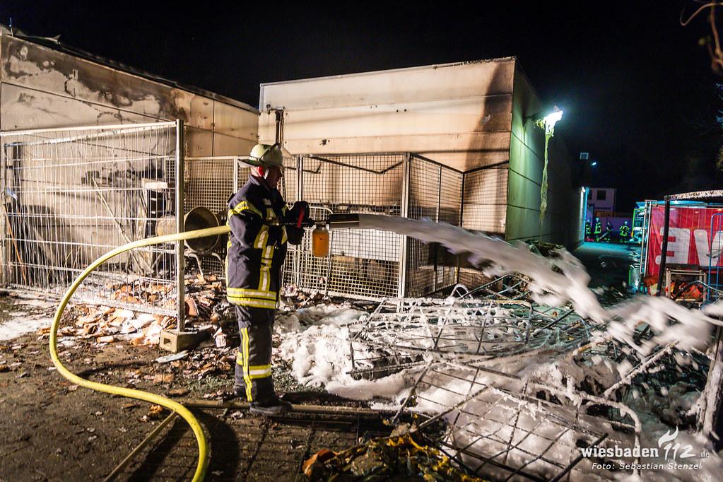 Feuer Lebensmittelmarkt Mainz-Laubenheim 06.04.19
