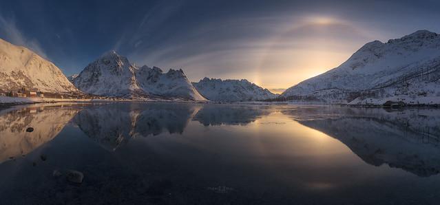 Halo solar en Laupstad Noruega