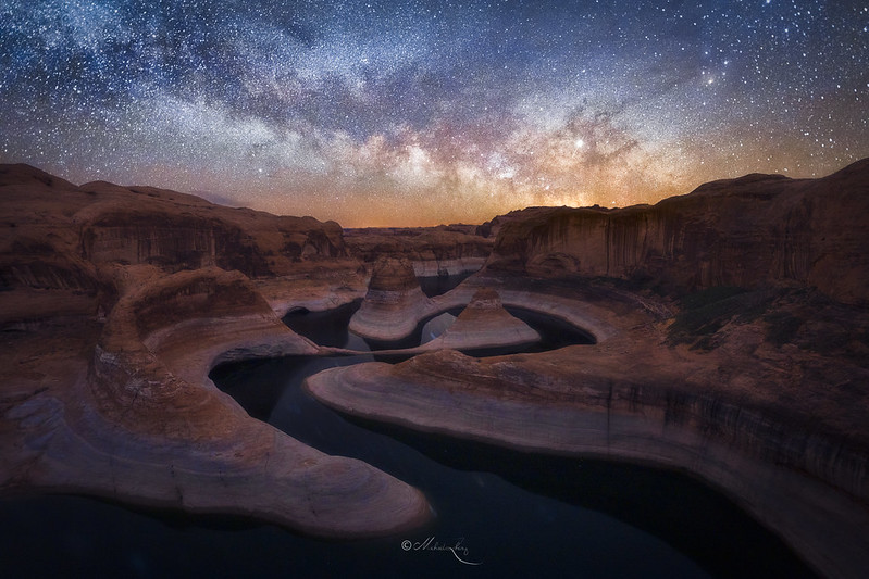 Milky Way Rise Over Reflection Canyon
