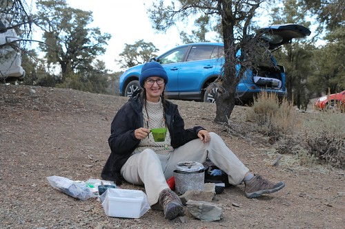 0712 Vicki steeps her afternoon tea in the Mahogany Flat Campground | by _JFR_