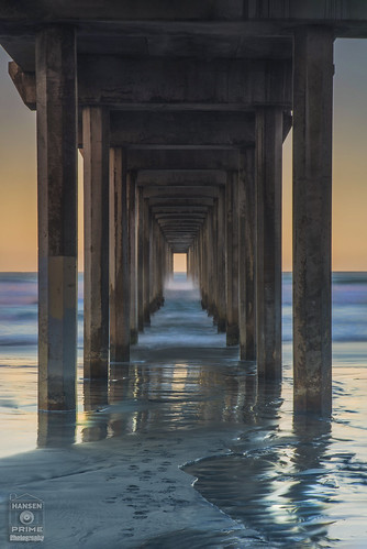 scripps scrippspier pier sunrise reflection morning beach sand water ocean pacific lajolla california sky landscape tide waves nature colorful