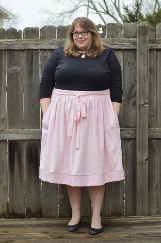 Pink silk Cleo skirt | by whitneycurella