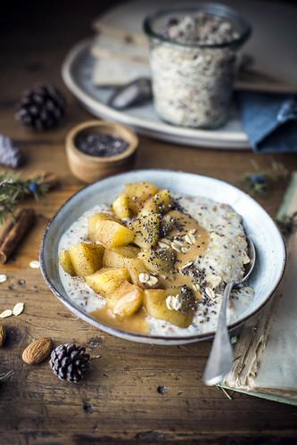Preparato per porridge- mela e cannella | by ileana_pavone