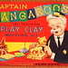 Vintage Captain Kangaroo's Play Clay Modeling Set, Trademark Of CBS Television, Made In USA By Hasbro, Hassenfeld Brothers, Copyright 1956 by France1978