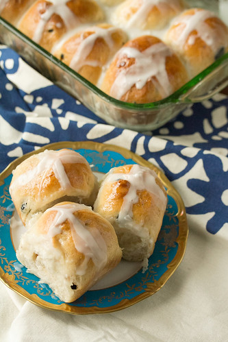 Blueberry-Lemon Hot Cross Buns   by Isabelle @ Crumb