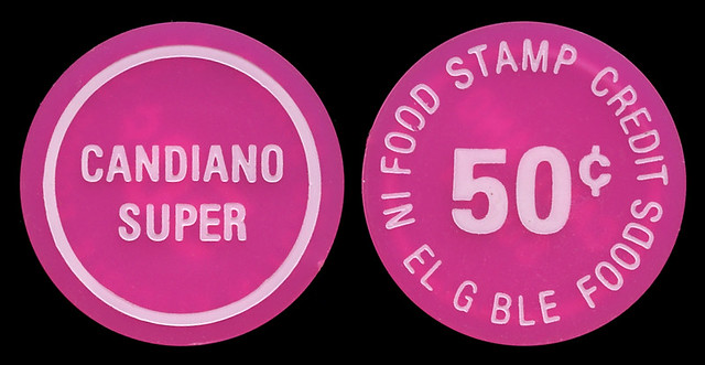 Candiano Super Market, 50¢ Token - East Chicago, Indiana
