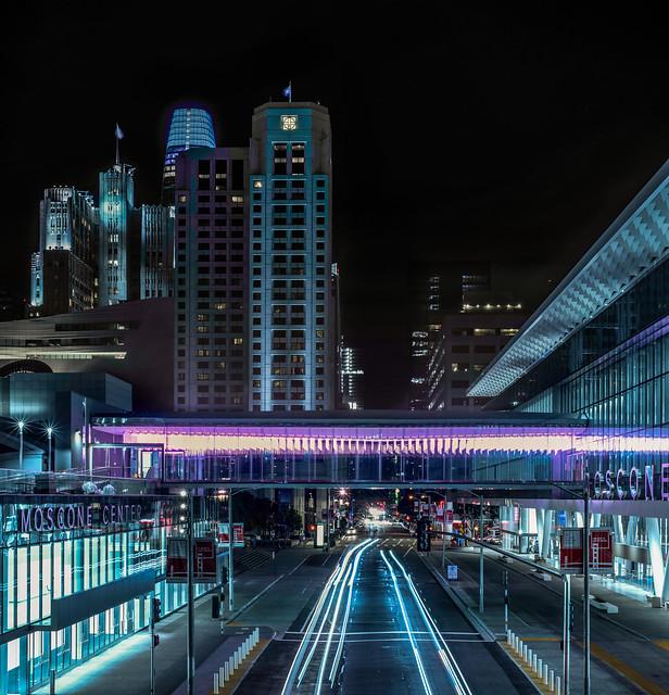 moscone's new enclosed pedestrian bridge