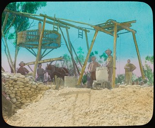 Men working at goldmine, Clermont, Queensland, ca. 1910