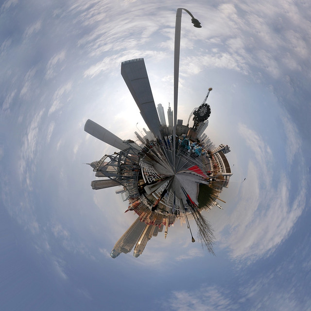 Mini Planet: Tianjin Main Train Station Square (360 degrees)