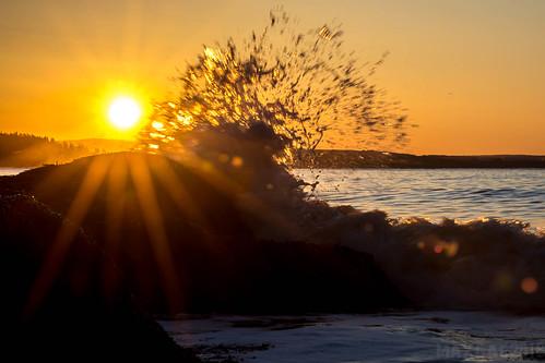 waves sunrise irvingnaturepark beach rise tide fundy