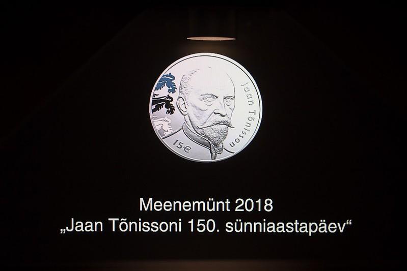 Jaan Tõnissoni 150. sünniaastapäevale pühendatud meenemündi esitlus