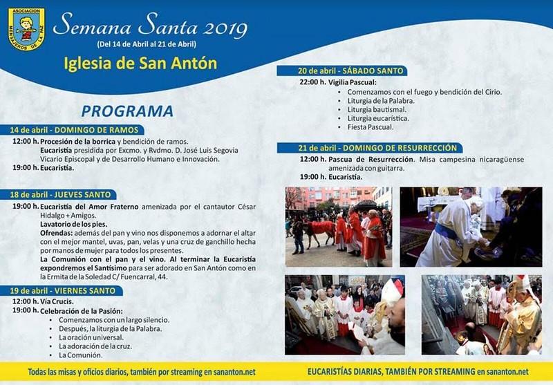 Programa Semana Santa en San Antón