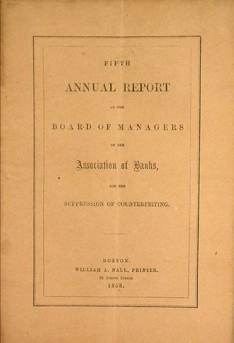 Annual Report of the Association of Banks for the Suppression of Counterfeiting | by Numismatic Bibliomania Society