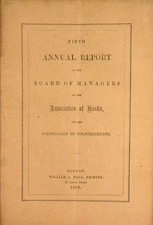 Annual Report of the Association of Banks for the Suppression of Counterfeiting   by Numismatic Bibliomania Society