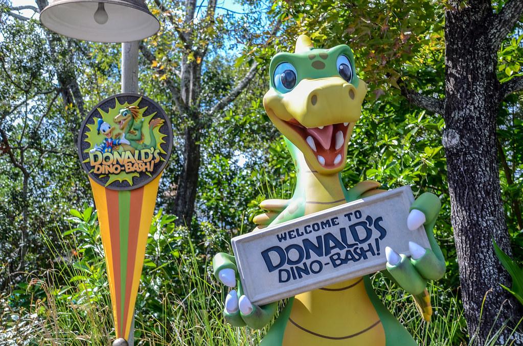 Donald's Dino Bash AK sign